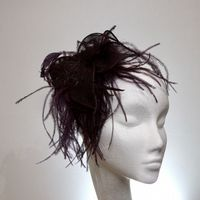 Amazon brown feather fascinator SN429
